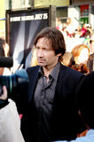 Actor David Duchovny. Is interviewed on the red carpet at the U.S. premiere of The X-Files: I Want to Believe at Mann Grauman's Chinese Theater in Los Angeles Stock Images
