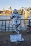 Actor de la calle en Londres Foto de archivo libre de regalías