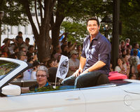 Actor Dean Cain at the annual DragonCon parade Royalty Free Stock Image
