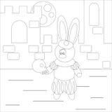 Actor del conejo del colorante Imagenes de archivo