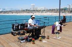 Actor del embarcadero de Santa Mónica imágenes de archivo libres de regalías