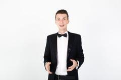 Actor del hombre que se realiza en la etapa Foto de archivo
