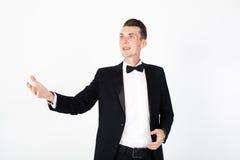 Actor del hombre que se realiza en la etapa Foto de archivo libre de regalías