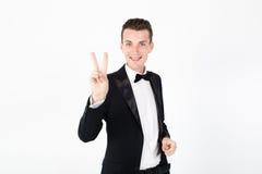 Actor del hombre que se realiza en la etapa Imagen de archivo libre de regalías