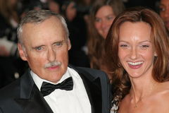 Actor  Dennis Hopper with his wife Stock Photo
