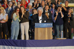 Actor Dick Van Dyke introduces Presidential Candidate Bernie San Royalty Free Stock Photo