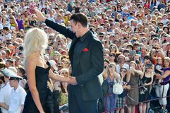 Actor Dmitry Dyuzhev with his wife Tatiana Royalty Free Stock Photos