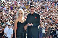 Actor Dmitry Dyuzhev and his wife Tatiana Stock Photos