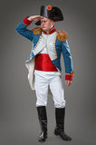 Actor dressed as Napoleon. Historical costume Stock Images