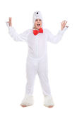 Actor Dressed as Polar Bear Royalty Free Stock Photography