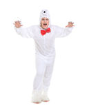 Actor Dressed as Polar Bear Royalty Free Stock Images