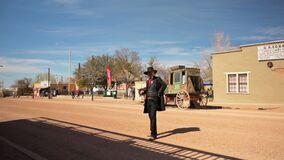 Portrait of sheriff actor in Tombstone, Arizona, Wild West Town