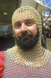Actor Dressed in Chain Mail at Renaissance Faire, Agoura, California Stock Image