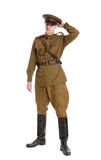 Actor dressed in military uniforms the Second World War Royalty Free Stock Image