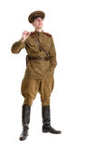 Actor dressed in military uniforms the Second World War Stock Images
