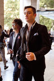 Actor Ed Westwick arriving to Lincoln Center Royalty Free Stock Photo