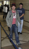 Actor Emile Hirsch is seen at LAX airport. LOS ANGELES - OCTOBER 30: Actor Emile Hirsch is seen at LAX . October 30th 2010 in Los Angeles, California Royalty Free Stock Images