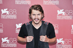 Actor Emile Hirsch. VENICE - SEPTEMBER 8: Actor Emile Hirsch poses at photocall during the 68th Venice Film Festival at Palazzo del Cinema in Venice, September 8 Stock Image