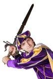 Actor en un juego del príncipe con una espada fotografía de archivo libre de regalías