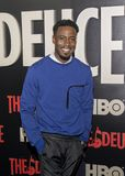 Gary Carr. Actor Gary Carr arrives for the New York premiere of HBO`s multi-part drama, `The Deuce,` The dramatic series follows the story of the legalization Stock Photo