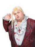 Actor gordo o reina de fricción desilusionada Fotos de archivo libres de regalías