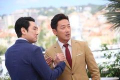 Actor Ha Jung-Woo, actor Cho Jin-Woong Stock Photos