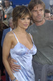 Harry Hamlin,Lisa Rinna. Actor HARRY HAMLIN & actress wife LISA RINNA at the world premiere of Terminator 3: Rise of the Machines, in Los Angeles. June 30, 2003 Stock Image