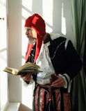 Actor in historic costumes Stock Photo