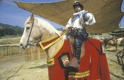 Actor on Horseback at the Renaissance Faire, Agoura, California Stock Photography