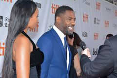 Actor Idris Elba at toronto international film festival stock photography