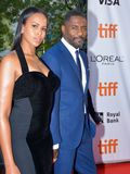 Idris Elba and Sabrina Dhowre at toronto international film festival. Actor Idris Elba and Sabrina Dhowre guest attend the premiere of `The Mountain Between Us` Royalty Free Stock Photo