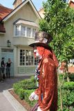 The Mad Hatter in English village stock images