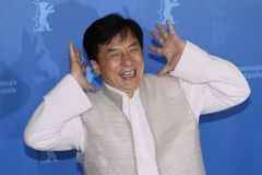 Actor Jackie Chan. BERLIN - FEBRUARY 16: Actor Jackie Chan attends the 'Da Bing Xiao Jiang' Photocall during day six of the 60th Berlin Film Festival at the stock photos