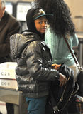 Actor Jayden Smith son of Will Smith LAX airport Stock Image