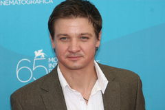 Actor Jeremy Renner. VENICE, ITALY - SEPTEMBER 04: Actor Jeremy Renner attends the 'Hurt Locker' photocall at the Piazzale del Casino during the 65th Venice Film Stock Photos