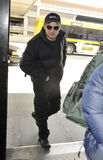 Actor Jeremy Renner at LAX airport. LOS ANGELES-FEBRUARY 28: Actor Jeremy Renner at LAX airport . February 28 in Los Angeles, California 2010 Stock Image