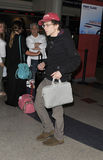 Actor Jesse Eisenberg at LAX airport Stock Image