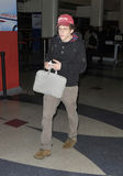Actor Jesse Eisenberg at LAX airport,CA USA. LOS ANGELES-MAY 21: Actor Jesse Eisenberg at LAX airport. May 21 in Los Angeles, California 2010 Royalty Free Stock Image