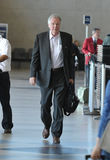 Actor John Voight is seen at LAX. LOS ANGELES - SEPTEMBER 5: Actor John Voight is seen at LAX . September 5th 2010 in Los Angeles, California Stock Photography