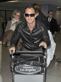Actor jude Law is seen at LAX airport Stock Photo