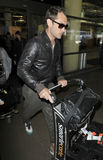 Actor jude Law is seen at LAX airport Royalty Free Stock Photo
