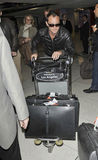 Actor jude Law is seen at LAX airport Royalty Free Stock Photography