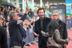 Actor Keanu Reeves attends the Knock Knock Premiere during the 41st Deauville American Film Festival. On September5, 2015 in Deauville, France Royalty Free Stock Photography