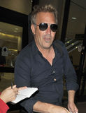 Actor Kevin Costner at LAX airport. Stock Photo