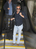 Actor Kevin Costner at LAX airport. Royalty Free Stock Photos