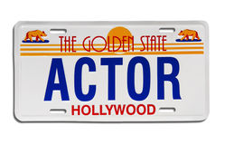 Free Actor License Plate Stock Image - 1130631