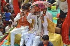 Actor look-a-like at Rathyatra, Ahmedabad Royalty Free Stock Photos