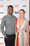 Actor Mamoudou Athie and Brie Larson at the `Unicorn Store` premiere at 2017 Toronto International Film Festival Stock Images