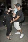 Actor Mario Lopez is seen at LAX with girlfriend Stock Image
