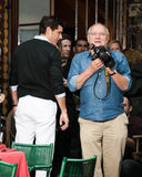 Actor Matthew Fox and photographer Peter Lindbergh. Portofino, Italy - May 09, 2010: Actor Matthew Fox and photographer Peter Lindbergh take part in watches Stock Images